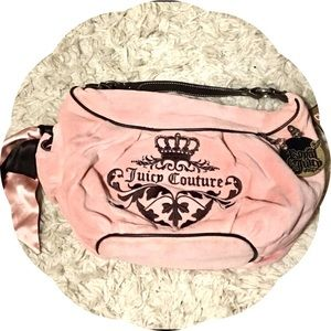 Juicy Couture Pink and Brown Terry Bag